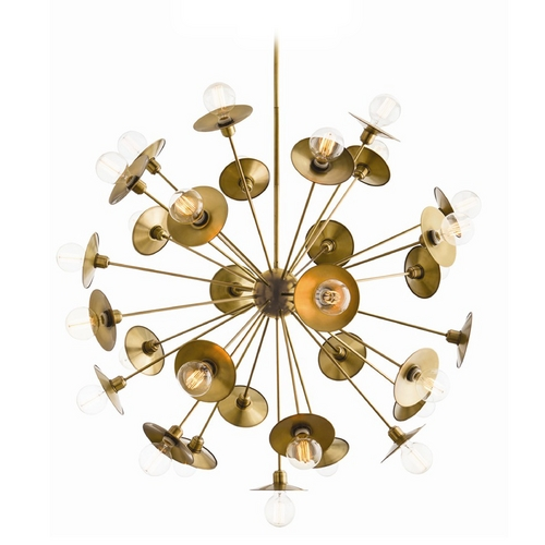 Arteriors Home Lighting Arteriors Home Lighting Keegan Antique Brass Pendant Light 89018