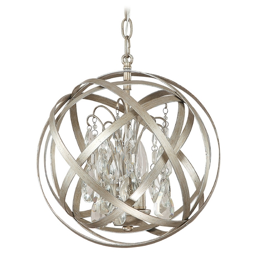 Capital Lighting Capital Lighting Winter Gold Pendant Light 4233WG-CR