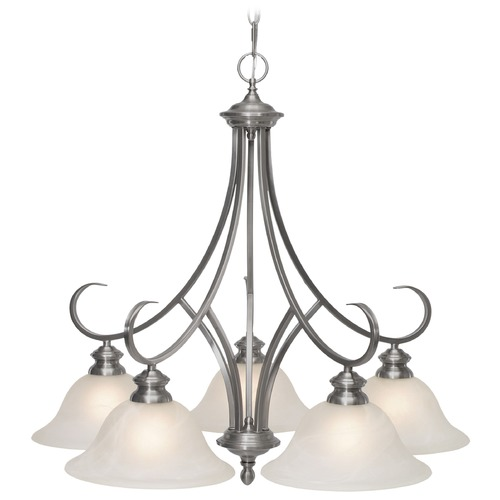 Golden Lighting Golden Lighting Lancaster Pewter Chandelier 6005-D5 PW