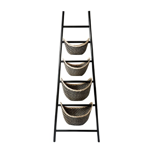 Dimond Lighting Black Plaid Ladder Basket 797001