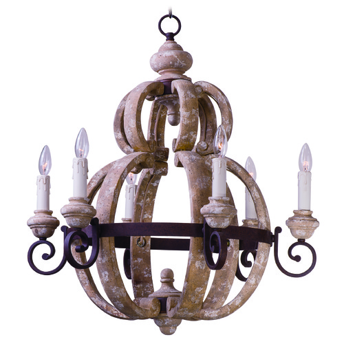Maxim Lighting Maxim Lighting International Olde World Senora Wood Chandelier 39605SW