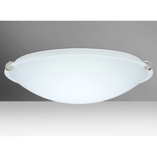 Besa Lighting Besa Lighting Trio Polished Nickel LED Flushmount Light 968007-LED-PN
