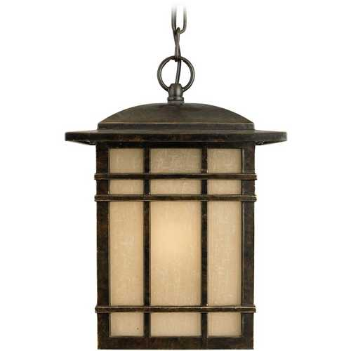 Quoizel Lighting Outdoor Hanging Light with White Glass in Imperial Bronze Finish HC1909IB