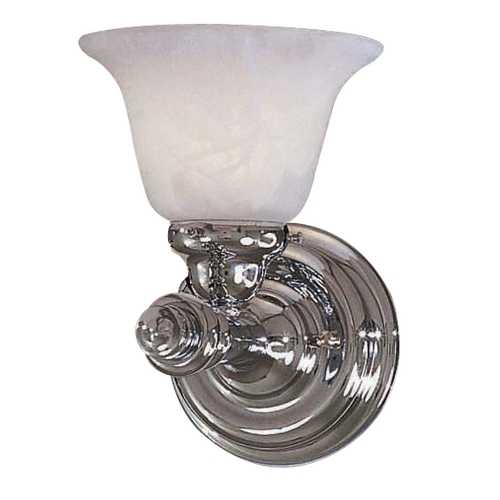 Minka Lavery Sconce with White Glass in Chrome Finish 5271-77
