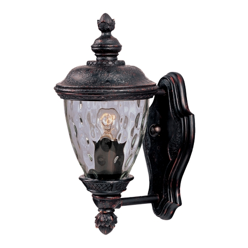 Maxim Lighting Outdoor Wall Light with Clear Glass in Oriental Bronze Finish 3495WGOB