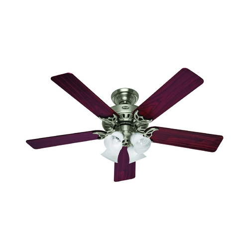 Hunter Fan Company Hunter Fan Company Studio Series Brushed Nickel Ceiling Fan with Light 53064