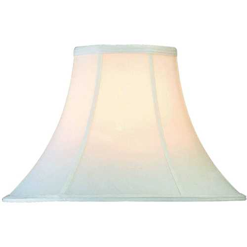 Lite Source Lighting White Bell Lamp Shade with Spider Assembly CH101-18