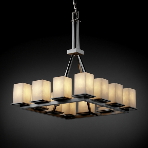 Justice Design Group Justice Design Group Clouds Collection Chandelier CLD-8663-15-NCKL