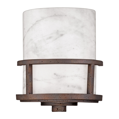 Quoizel Lighting Sconce with White Onyx in Iron Gate Finish KY8801IN
