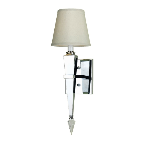 AF Lighting Modern Sconce Wall Light with Beige / Cream Shade in Chrome Finish 6752-1W