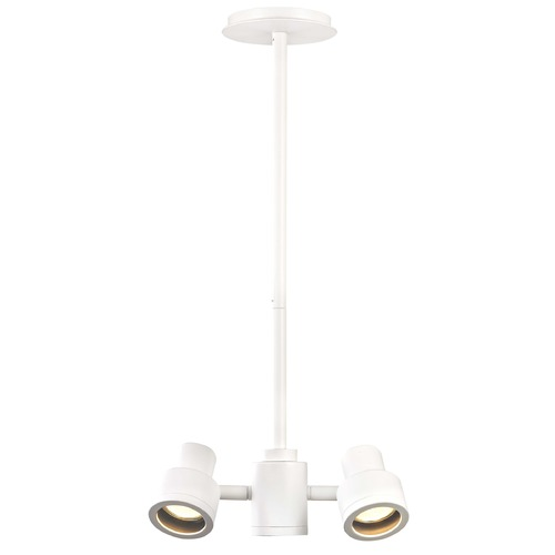 Recesso Lighting by Dolan Designs 2-Light Stepped Cylinder Adjustable Monopoint - White - GU10 Base TR0212-WH