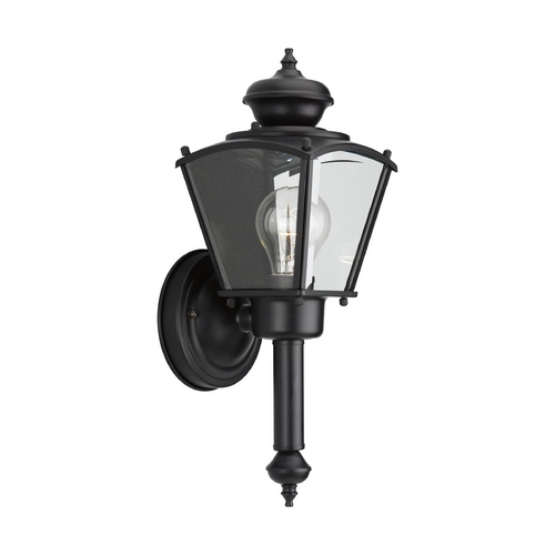 Progress Lighting Progress Outdoor Wall Light with Clear Glass in Black Finish P5846-31