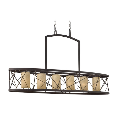 Frederick Ramond Island Light with Amber Glass in Oil Rubbed Bronze Finish FR41616ORB