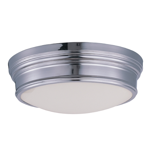 Maxim Lighting Maxim Lighting Fairmont Polished Nickel Flushmount Light 22371SWPN