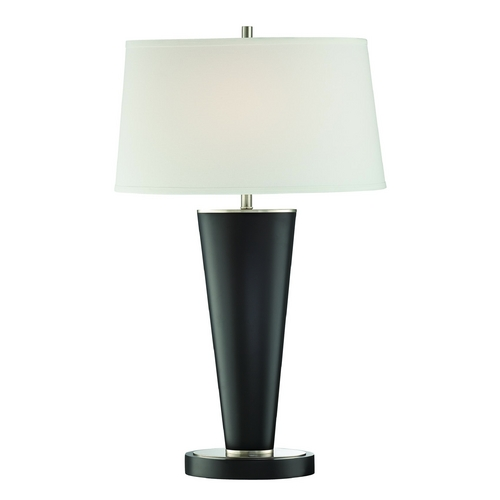 Lite Source Lighting Lite Source Lighting Nabil Dark Walnut Table Lamp with Oval Shade LS-22433