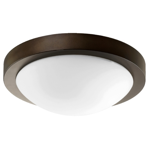 Quorum Lighting Quorum Lighting Oiled Bronze Flushmount Light 3505-13886