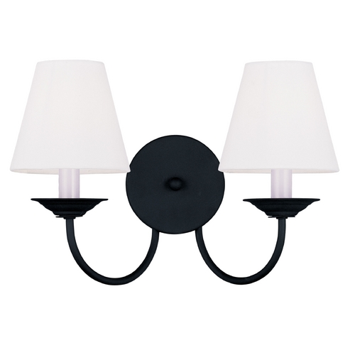 Livex Lighting Livex Lighting Mendham Black Sconce 5272-04