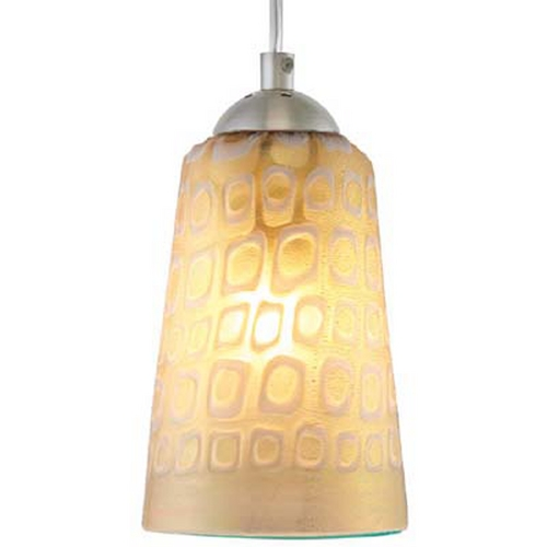 Oggetti Lighting Oggetti Lighting Carnivale Satin Nickel Mini-Pendant Light with Cylindrical Shade 22-L0212M