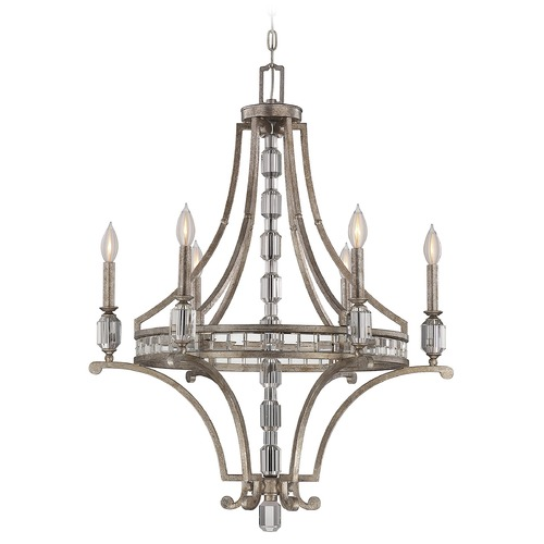 Savoy House Savoy House Silver Dust Crystal Chandelier 1-7151-6-272