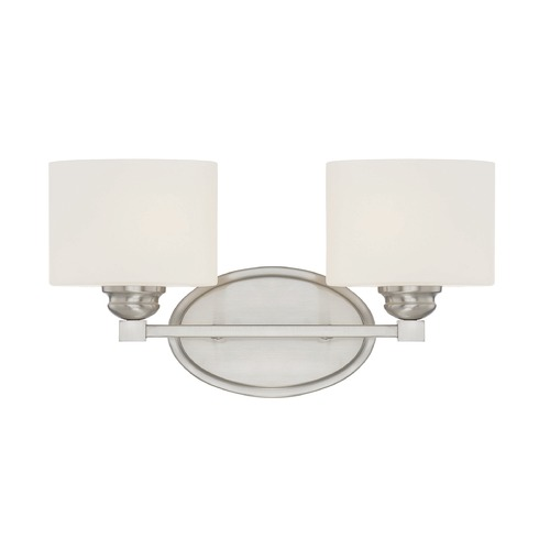 Savoy House Savoy House Lighting Kane Satin Nickel Bathroom Light 8-890-2-SN