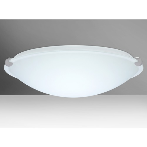Besa Lighting Besa Lighting Trio Satin Nickel LED Flushmount Light 968007-LED-SN