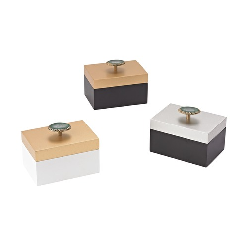 Sterling Lighting Sterling Sangreal Set of 3 Decorative Boxes 3129-1143/S3