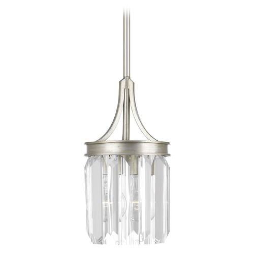 Progress Lighting Progress Lighting Glimmer Silver Ridge Mini-Pendant Light P5320-134