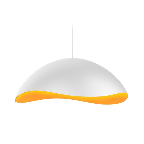Sonneman Lighting Sonneman a Way of Light Waveforms Satin White LED Pendant Light with Bowl / Dome Shade 2673.03A