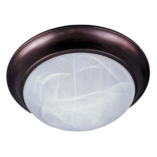 Maxim Lighting Flushmount Light with White Glass in Oil Rubbed Bronze Finish 5850MROI