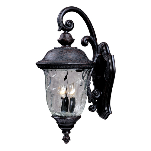 Maxim Lighting Maxim Lighting Carriage House Dc Oriental Bronze Outdoor Wall Light 3496WGOB