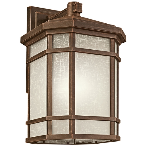 Kichler Lighting Kichler Outdoor Wall Light with White Glass in Prairie Rock Finish 9721PR