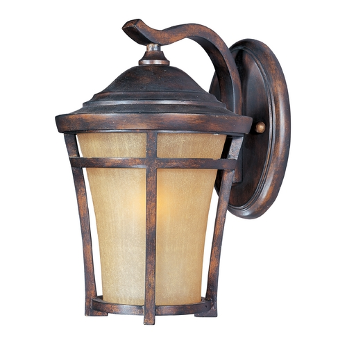 Maxim Lighting Outdoor Wall Light with Gold Glass in Copper Oxide Finish 85164GFCO