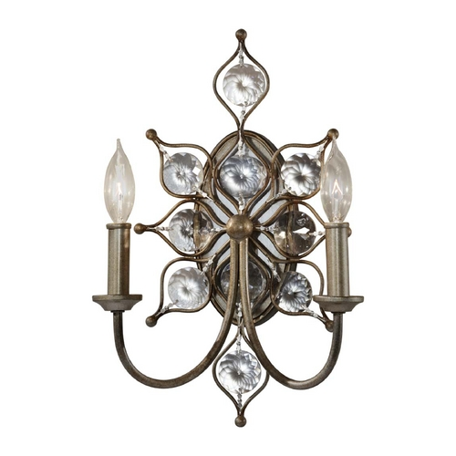 Feiss Lighting Sconce Wall Light in Burnished Silver Finish WB1579BUS