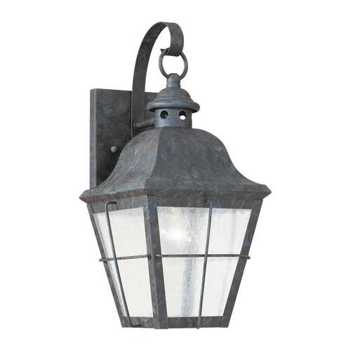 Sea Gull Lighting Outdoor Wall Light with Clear Glass in Oxidized Bronze Finish 8462-46