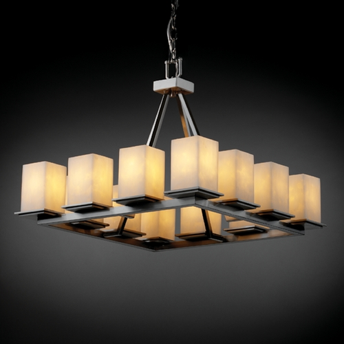 Justice Design Group Justice Design Group Clouds Collection Chandelier CLD-8668-15-NCKL