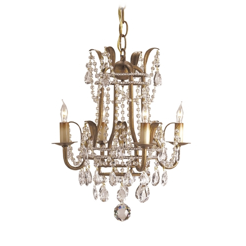 Currey and Company Lighting Mini-Chandelier in Rhine Gold Finish 9543