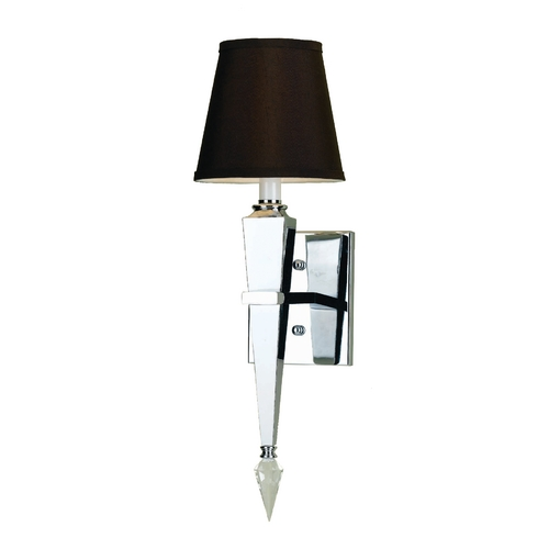 AF Lighting Modern Sconce Wall Light with Black Shade in Chrome Finish 6753-1W