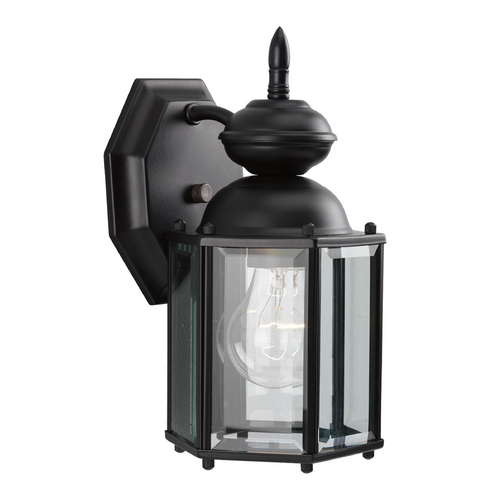 Progress Lighting Progress Small Hexagon Outdoor Lantern in Black Finish P5756-31