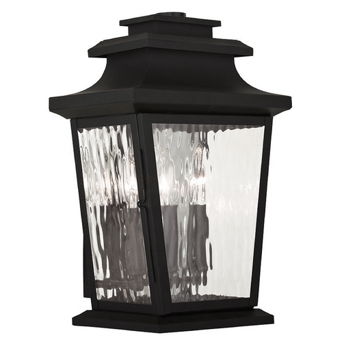 Livex Lighting Livex Lighting Hathaway Black Outdoor Wall Light 20257-04