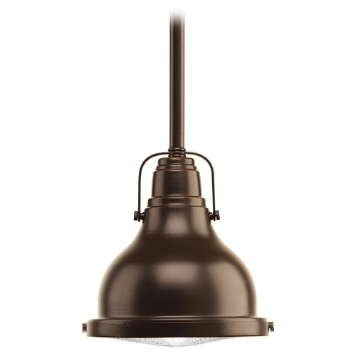 Progress Lighting Progress Lighting Fresnel Lens Oil Rubbed Bronze LED Mini-Pendant Light P5050-10830K9
