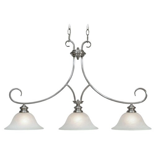 Golden Lighting Golden Lighting Lancaster Pewter Island Light with Bell Shade 6005-10 PW