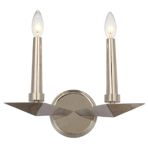 Crystorama Lighting Crystorama Lighting Palmer Polished Nickel Sconce 7592-PN