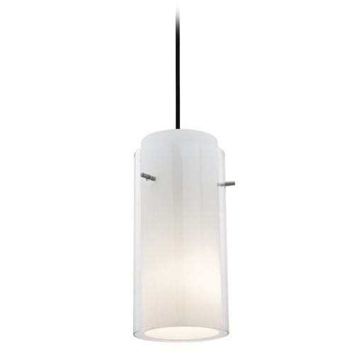 Access Lighting Access Lighting Glass`n Glass Cylinder Oil Rubbed Bronze Mini-Pendant Light with Cylindrical Shade 28033-3C-ORB/CLOP
