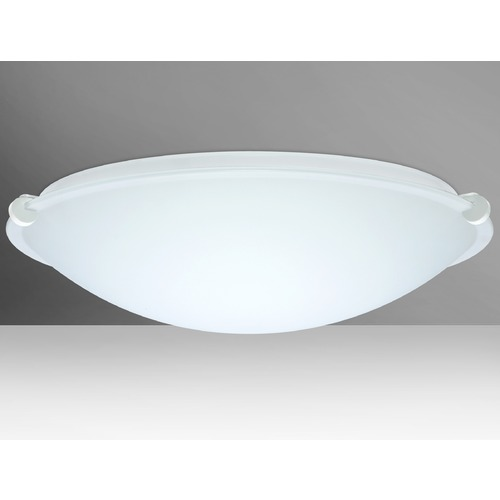 Besa Lighting Besa Lighting Trio White LED Flushmount Light 968007-LED-WH
