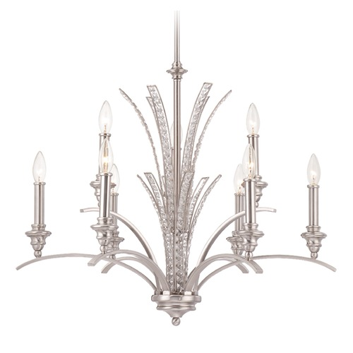 Designers Fountain Lighting Designers Fountain Grand Plazza Satin Platinum Chandelier 85789-SP