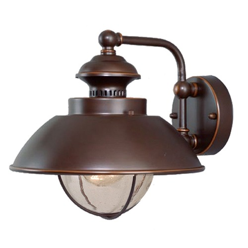 Vaxcel Lighting Seeded Glass Outdoor Wall Light Bronze Vaxcel Lighting OW21501BBZ