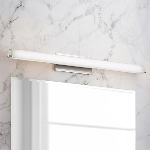 Modern Forms by WAC Lighting Modern Forms Mini Vogue Brushed Nickel LED Vertical Bathroom Light 2700K 1495LM WS-21724-27-BN