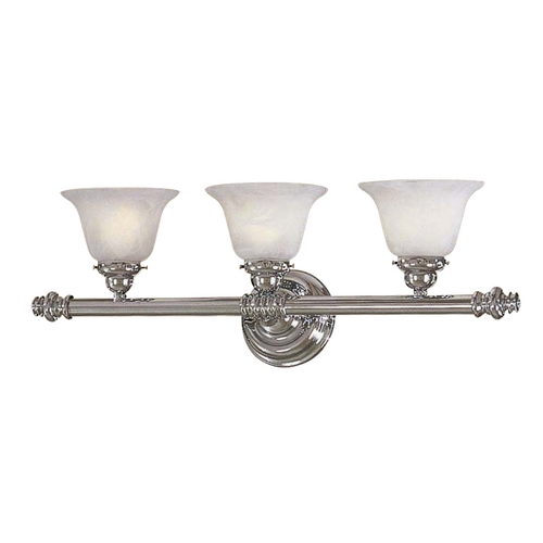 Minka Lavery Bathroom Light with White Glass in Chrome Finish 5273-77