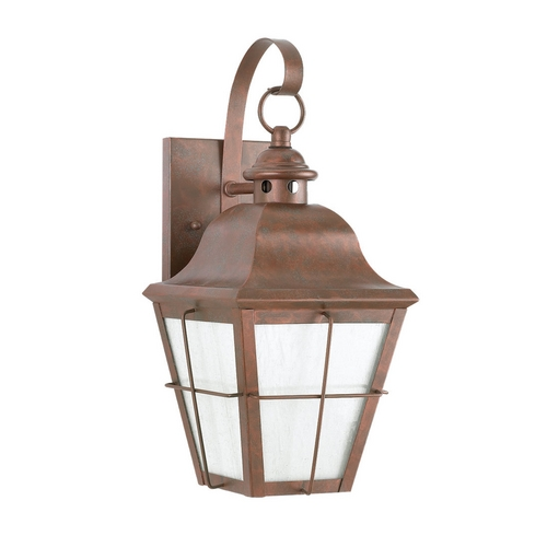 Sea Gull Lighting Outdoor Wall Light with Clear Glass in Weathered Copper Finish 8462D-44