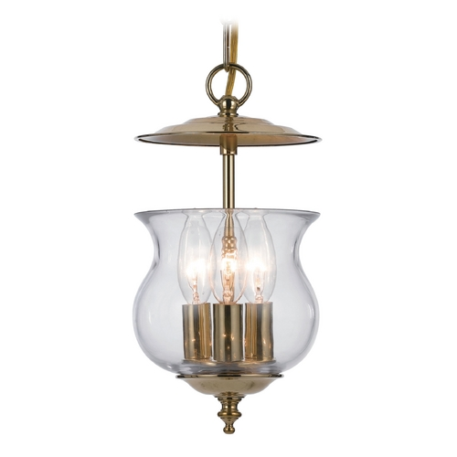 Crystorama Lighting Mini-Pendant Light with Clear Glass 5717-PB